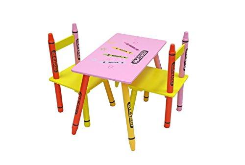 Kiddi Style Pastello Tavolo e 2 Sedie per bambini  in Legno