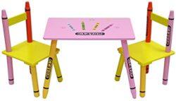 Kiddi Style Pastello Tavolo E 2 Sedie Per Bambini In Legno 0