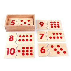 Magideal Montessori Bambini Conteggio Numero Chip Matematica 1 10 Cartenumero Puzzle Giocattolo Educazione Aritmetica Regalo 0