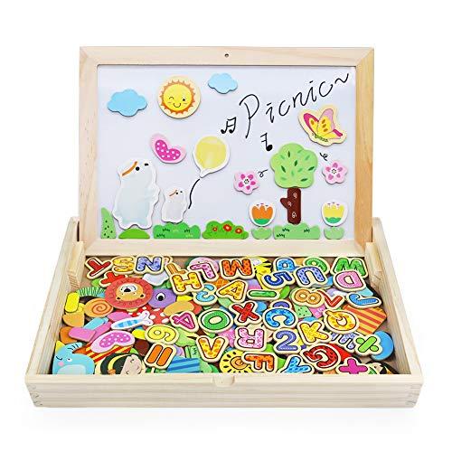 Magnetica Lavagna Giocattoli In Legno Puzzle Gioco Da Tavolo Giochi Creativi Costruzioni Per Bambini 3 Anni 0