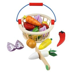 Mango Town Verdure Da Tagliare Giocattolo Legno Frutta E Verdura Giocattolo Cucina Cibo Giocattolo Per Bambini 3 4 5 6 7 Anni 0