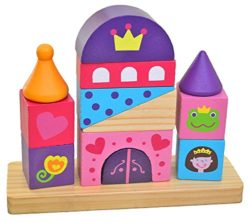 Tooky Tkb494 Giocattoli Di Legno Castle Block Tower Multicolore 0