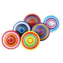 Vabneer Trottola In Legno Mini Trottola In Legno Multicolore Mini Giroscopio In Legno Colorati Artigianali Set Per Bambini 3 7 Anni 0