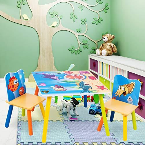 Set Mobili Tavolo E Sedie Per Bambini Design Oceano In Legno Giochi In Legno