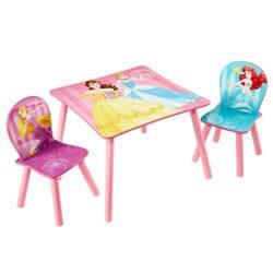 Worlds Apart Wap Principesse Disney Tavolino Con Sgabelli Legnocomposito Multicolore 63x63x45 Cm 0
