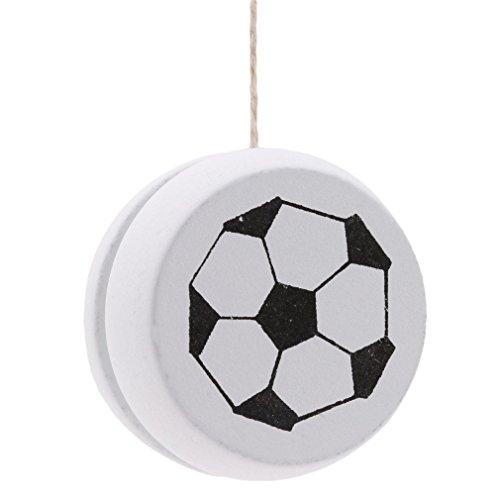 Yinew In Legno Yoyo Classic Toys Creative Building Personalit Sport Hobby Yoyo Per Bambini Ragazzi E Ragazze Legno White Football As Description 0