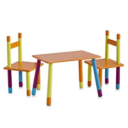 Zeller Color 13455 Gruppo Da Tavolo Per Bambini In Mdf 40x60x42 Cm 28x28x53 Cm 3 Pezzi 0