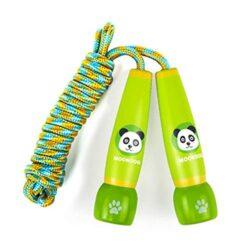 Beautygoods Bambini Casual Corda Per Saltare Corda Per Saltare In Legno Cartoon Regolabile Per Bambini Casual Corda Per Saltare Leone Fox Panda Log Coniglio 3 M Panda 0