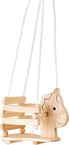 Small Foot Design 4774 Altalena Per Bambini In Legno Cavallo 0