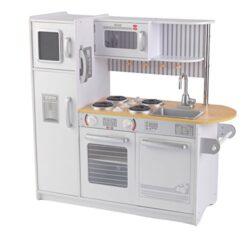 Kidkraft 53364 Cucina Giocattolo In Legno Per Bambini Uptown Con Lavagna E Telefonino Inclusi Bianco 0