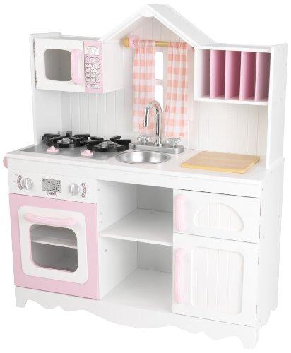 Kidkraft 53222 Cucina Giocattolo In Legno Per Bambini Modern Country Rosa E Bianco 0