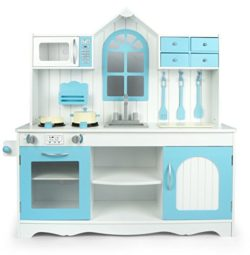 Leomark Cucina Exclusive Royal Azzurro Giocattolo Per Bambini Gioco In Legno Giocare Dimitazione Accessori Per Cucina Educazione Tavola Fornello Divertimento Baby Toys 0