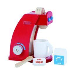 Bjulian Macchina Da Caff Giocattolo In Legno Con Tazza Latte Cialde Accessori Cucina Per Bambini Set 8 Pz Per Bambini Dai 2 Anni In Su 0