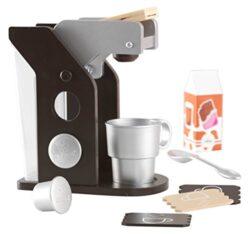 Kidkraft 63379 Set Giocattolo Di Caff In Legno Per Bambini Giochi Di Imitazione Con Accessori Inclusi Colore Espresso 0