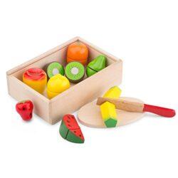 New Classic Toys Scatola Con Frutta Giocattolo Da Affettare 0