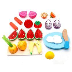 Yoptote Giocattolo Legno Magnetico Taglio Frutta E Ortaggio Alimenti Gioco Di Ruolo Piccolo Cuoco Gioco Educativo Dapprendimento Accessori Cucina Regalo Perfetto Per Bambini 3 Anni 23 Pezzi 0