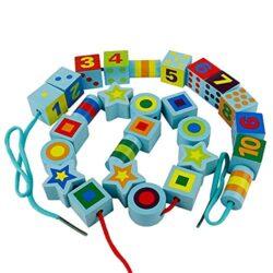 Colorate Perline Di Allacciatura In Legno Blocchi Di Digitale Motivo Geometrico Perline Da Infilare Giocattolo Per Bambini E Bambine Et 3 0