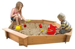 Garden Games Limited 18m Octagonal Wooden Sandpit Natural Wood 0