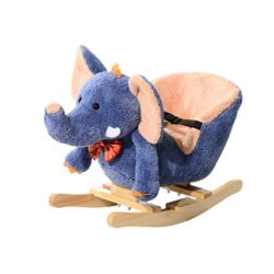 Homcom Elefante A Dondolo Con Musica Per Bambini In Legno 60 33 45cm 0