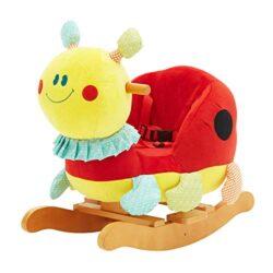Labebe Beetle Peluche Cavallo A Dondolo Cavallo A Dondolo In Legno Per Bambini 123 Anni Regalo Per Bambini 0