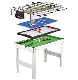 Tavolo Multigioco 4 In 1 Con Biliardo Pool Calcetto Hockey E Ping Pong Calcetto Balilla Da Tavolo In Legno Balilla Biliardinoo 0