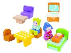Boikido Bkd80890061 Set Mobili Con Personaggi Per Casa Delle Bambole In Legno 0