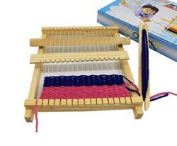 Chonor Telaio Di Tessitura Di Legno Per Bambini Completo Kit Telaio A Mano Mestiere Giocattolo Set Di Legno Maglia Telaio Per Principianti 0