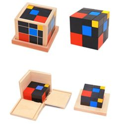 Dabixx Baby Education Toys Montessori Matematica Conteggio Wooden Early Learning Giocattoli Educativi Trinomial Cube Per Bambini Multicolore 0