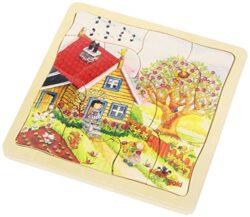 Goki Puzzle 4 Strati Le Stagioni 0