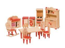 Goki 51951 Mobili Per Casa Delle Bambole Cucina 11 Pezzi 0