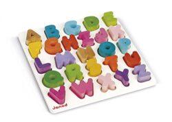 Janod J05566 Puzzle In Legno Alfabeto 0