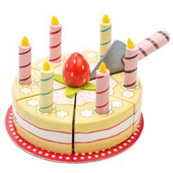 Le Toy Van 122273 Honeybake Vaniglia Torta Di Compleanno Torta Di Legno 0