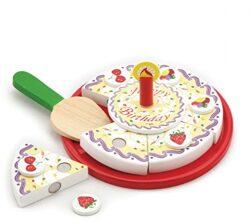 New Classic Giocattoli 0592 Imitazione Di Gioco Corsi Di Cucina Torta Di Compleanno Per Tagliare 0