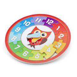 New Classic Toys Clock Puzzle Owl Multicolore 18251 0