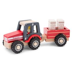 New Classic Toys Tractor With Trailer Hay Stacks Multicolore 11943 0