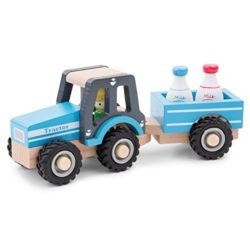 New Classic Toys Tractor With Trailer Milk Bottles Multicolore 11942 0