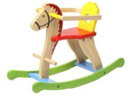 Voila Cavallo A Dondolo In Legno Naturale 0