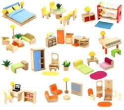 Voila Wooden Doll S Furniture Set 0