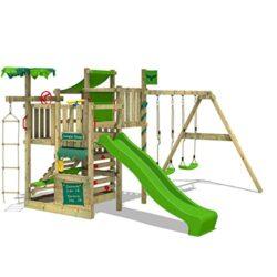 Fatmoose Parco Giochi In Legno Crazycoconut Club Xxl Giochi Da Giardino Con Altalena Superswing E Scivolo Struttura Di Gioco Per Bambini Torre Di Arrampicata Da Giardino 0