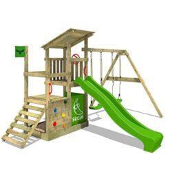 Fatmoose Parco Giochi In Legno Fruityforest Fun Xxl Giochi Da Giardino Con Altalena Superswing E Scivolo Torre Di Arrampicata Da Esterno Con Sabbiera Per Bambini 0