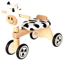 I M Toy Triciclo Per Bambino Animale In Legno Mucca Cavalcabili Giocattolo In Legno Prima Infanzia Im87520 0