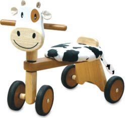 I M Toy Triciclo Per Bambino Animale In Legno Muccacavalcabili Giocattolo Prima Infanzia Im80004 Im80004 0