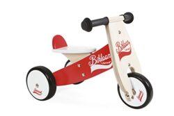 Janod J03260 Bicicletta Senza Pedali Little Bikloon Legno Rossobianco 0