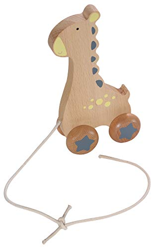 Kindsgut Giocattolo In Legno A Forma Di Animale Da Trascinare Piccolo Giraffa 0