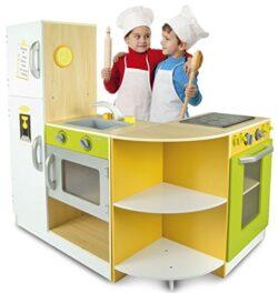 Leomark Cucina Exclusive Flex Concept Giocattolo Per Bambini Gioco In Legno Giocare Dimitazione Nuovo Accessori Per Cucina Dimensioni 138 X 34 X 985 Cm Educazione Tavola Fornello Divertimento 0