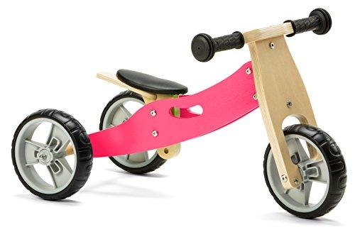 Nicko Mini 2 In 1 Rosa In Legno Balance Corsa Bici Triciclo 18 Mesi 3 Anni 0