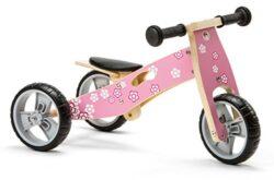 Nicko Mini Multi Nic812 Triciclo In Legno Misura Grande Colore Rosa 0