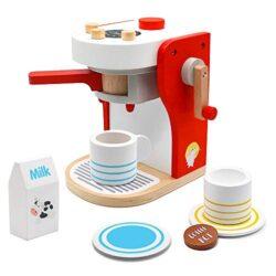 Pl Macchina Caffe Cucina Giocattolo Legno Per Bambini Caffettiera Giochi Regalo Ragazza Ragazzo 3 4 5 6 Anni Gioco Di Ruolo 9 Pezzi 0