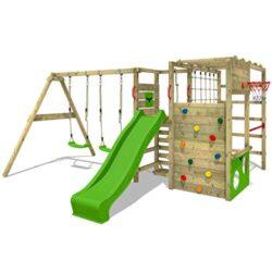 Parco Giochi In Legno Fatmoose Actionarena Air Xxl Con Superswing Giochi Da Giardino Per Bambini Casetta Da Gioco Altalena Scivolo 0
