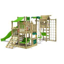 Wickey Parco Giochi In Legno Bananabeach Big Xxl Giochi Da Giardino Con Altalena Towerswing E Scivolo Struttura Di Gioco Per Bambini Torre Di Arrampicata Da Giardino 0